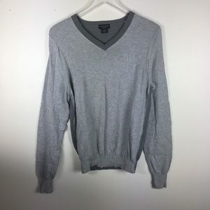 Authentic Guess Jeans Light Gray Pullover Sweater
